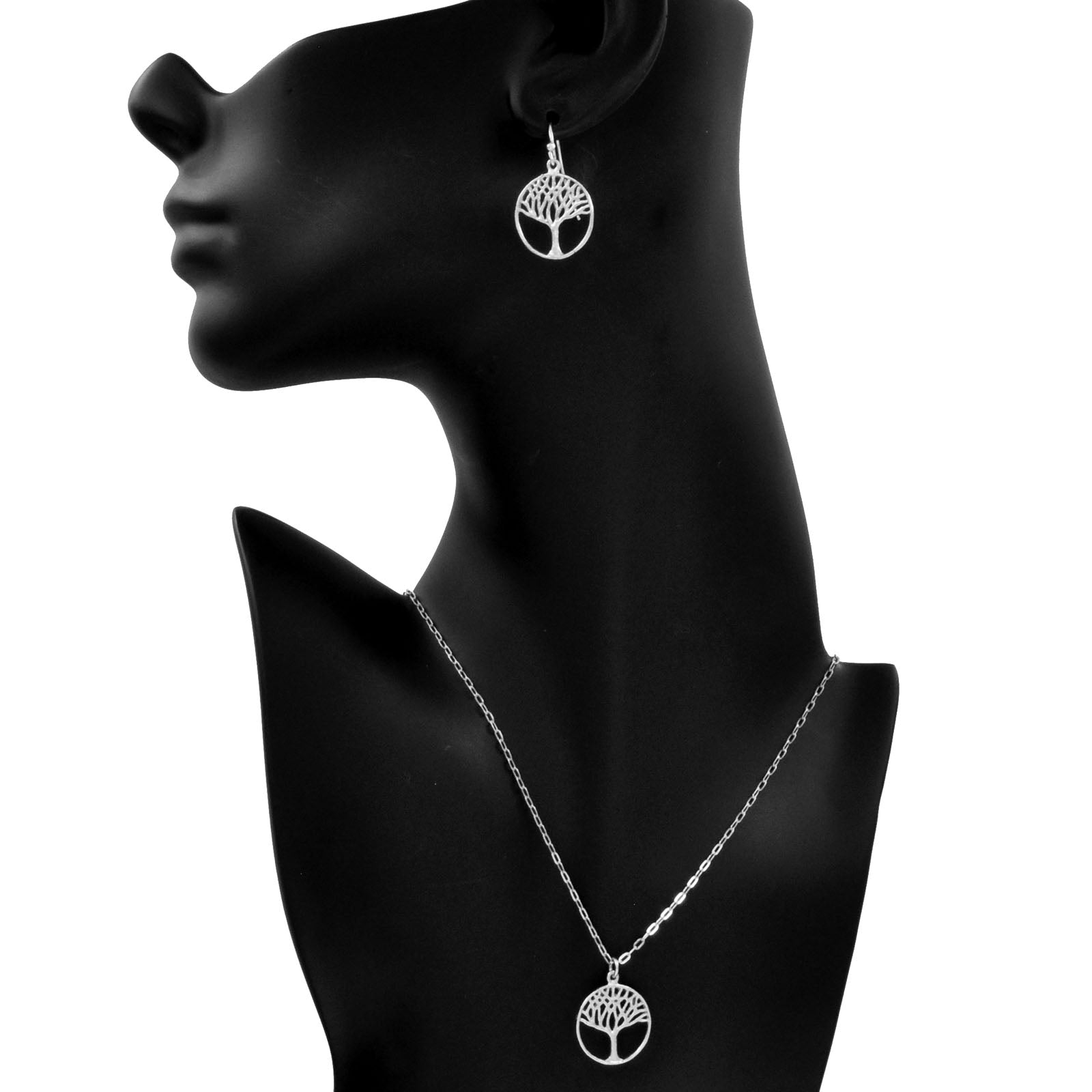 Tree of Life Necklace (Small) - Platinum Silver
