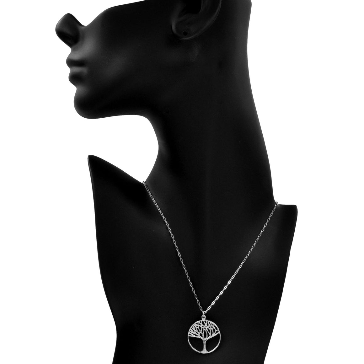 Tree of Life Necklace (Medium) - Platinum Silver