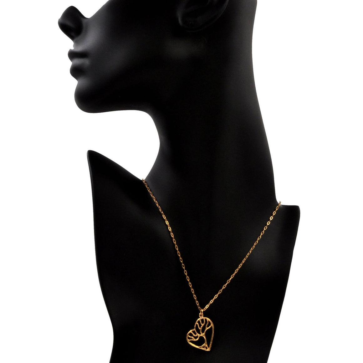 Tree of Life Enchanted Heart Necklace - 24K Gold Plated