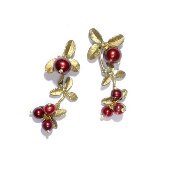 Cranberry Dangle Earrings