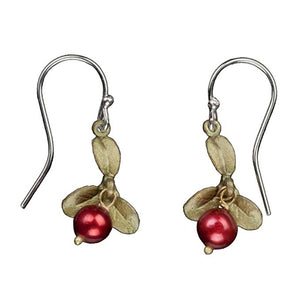 Cranberry French Wire Earrings