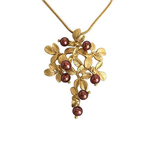 Cranberry Pendant Necklace