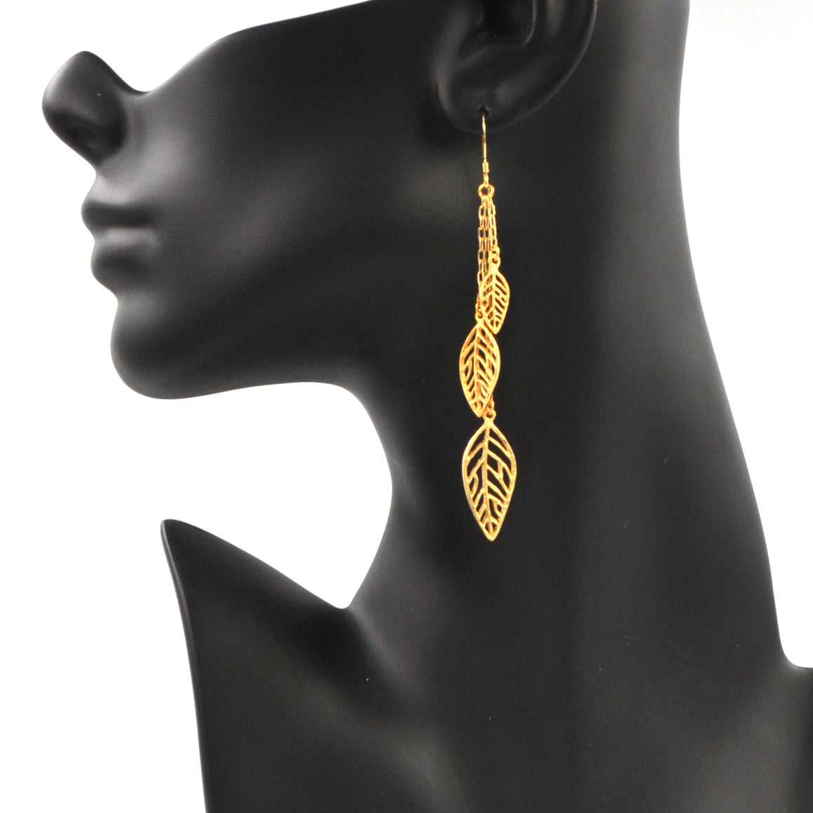 Birch Leaf Earrings - 24K Gold Plated
