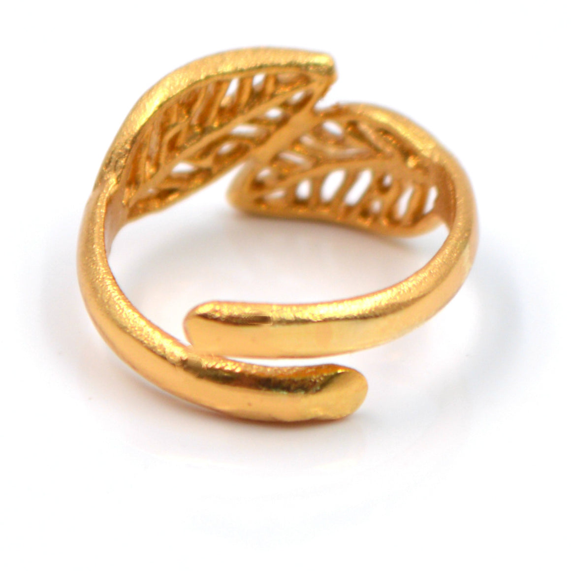 Birch Leaf Ring- 24K Gold Vermeil
