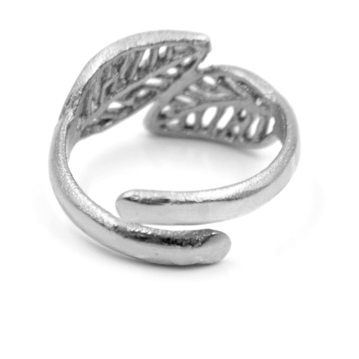 Birch Leaf Ring- Sterling Silver
