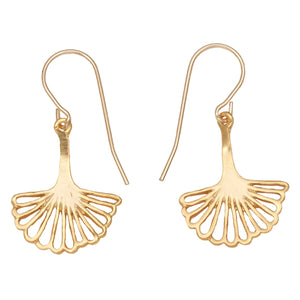 Ginkgo Leaf Earrings (Small) - 24K Gold Plated
