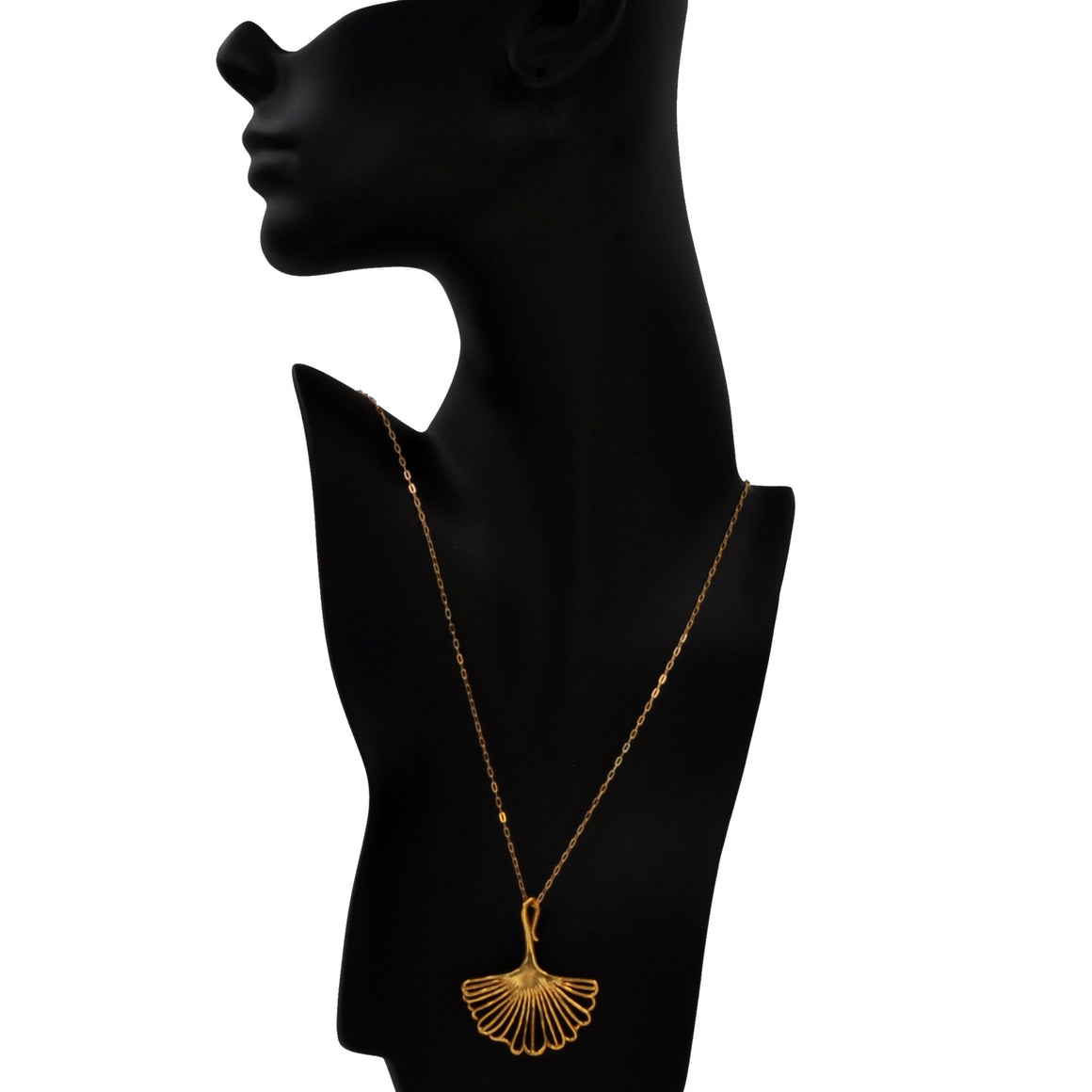 Ginkgo Pendant (Large) - 24K Gold Plated