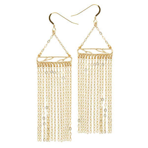 Glamorous Fringe Statement Earrings - 24K Gold Plated