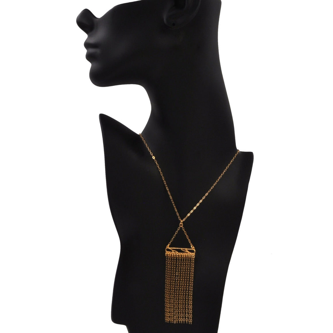 Glamorous Fringe Statement Necklace - 24K Gold Plated