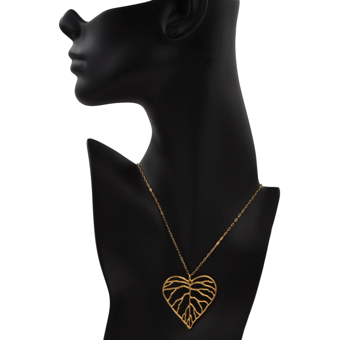 Heart Leaf Pendant - 24K Gold Plated