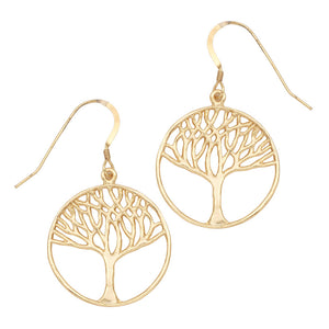 Tree of Life Earrings (Medium) - 24K Gold Plated