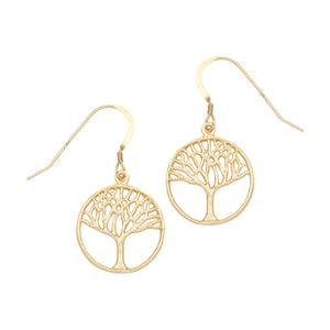 Tree of Life Earrings (Small) - 24K Gold Plated