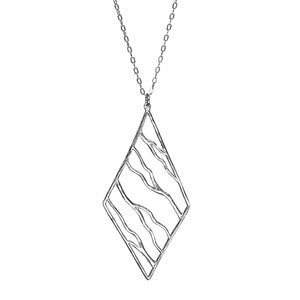 Intricate Branches Diamond Necklace - Platinum Silver