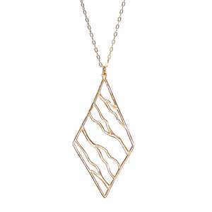 Intricate Branches Diamond Necklace - 24K Gold Plated