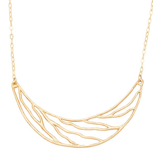 Intricate Branches Collar Necklace - 24K Gold Plated