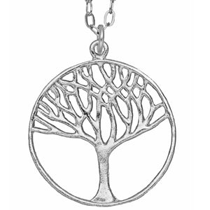 Tree of Life Necklace (Large) - Platinum Silver