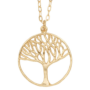 Tree of Life Necklace (Medium) - 24K Gold Plated