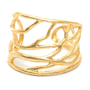 Intricate Branches Ring- 24K Gold Vermeil