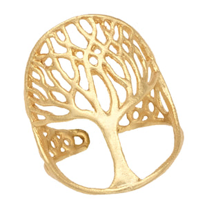 Tree of Life Ring - 24K Gold Vermeil