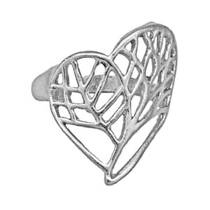 Tree of Life Heart Ring - Sterling Silver