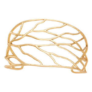 Intricate Branches Cuff - 24K Gold Plated