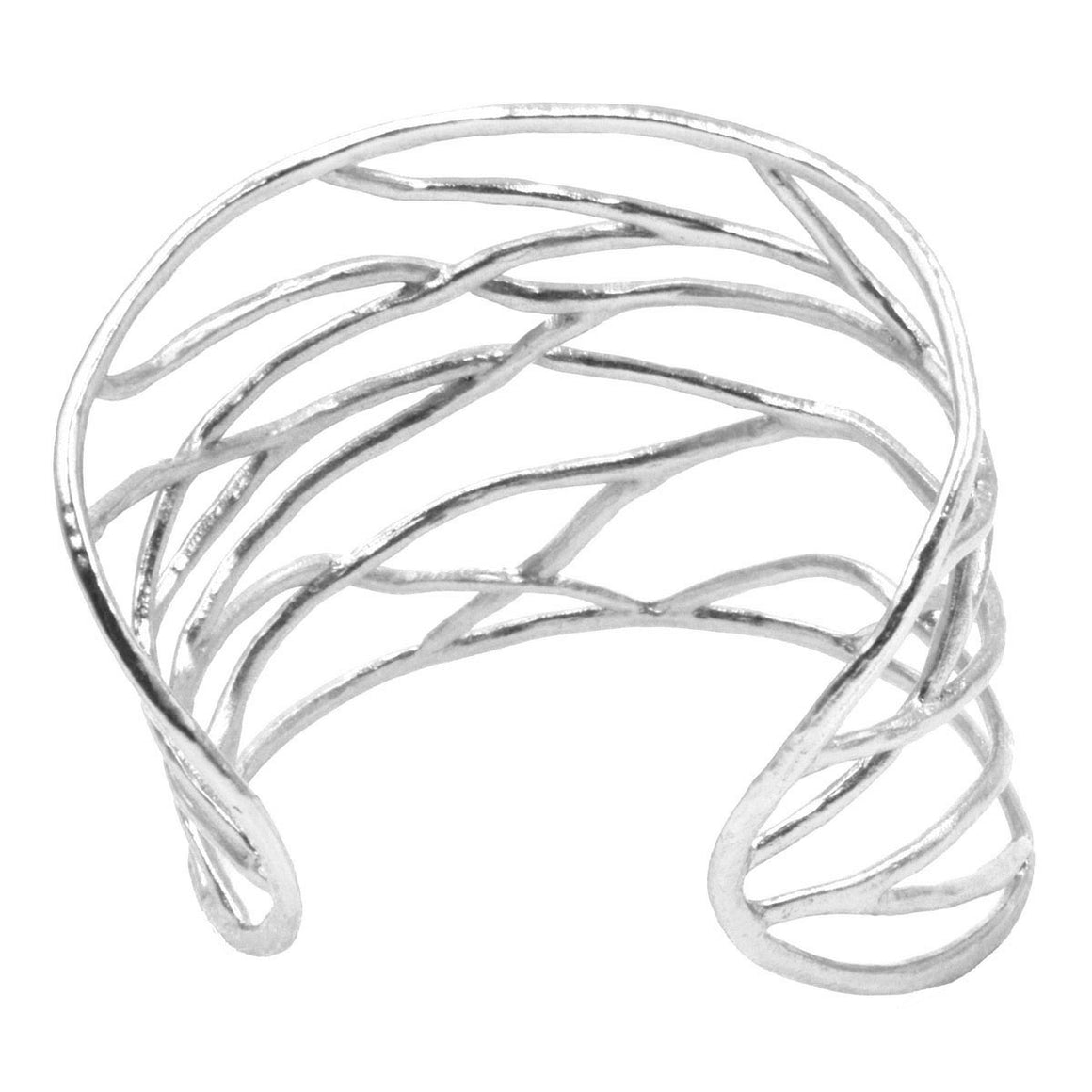 Intricate Branches Statement Cuff - Platinum Silver