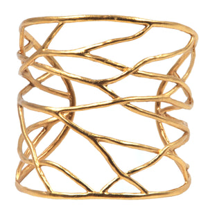 Intricate Branches Statement Cuf - 24K Gold Plated