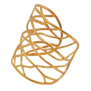 Intricate Branches Cuff Bracelet - 24K Gold Plated