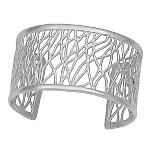 Tree of Life Branches Cuff - Platinum Silver