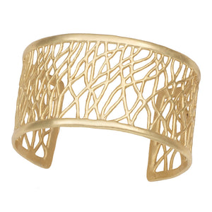 Tree of Life Branches Cuff - 24K Gold Plated