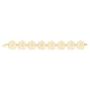 Rose Link Bracelet - 24K Gold Plated