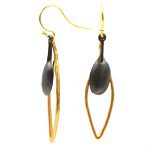 Olive Branch Leaf Earrings - 24K Gold Plated
