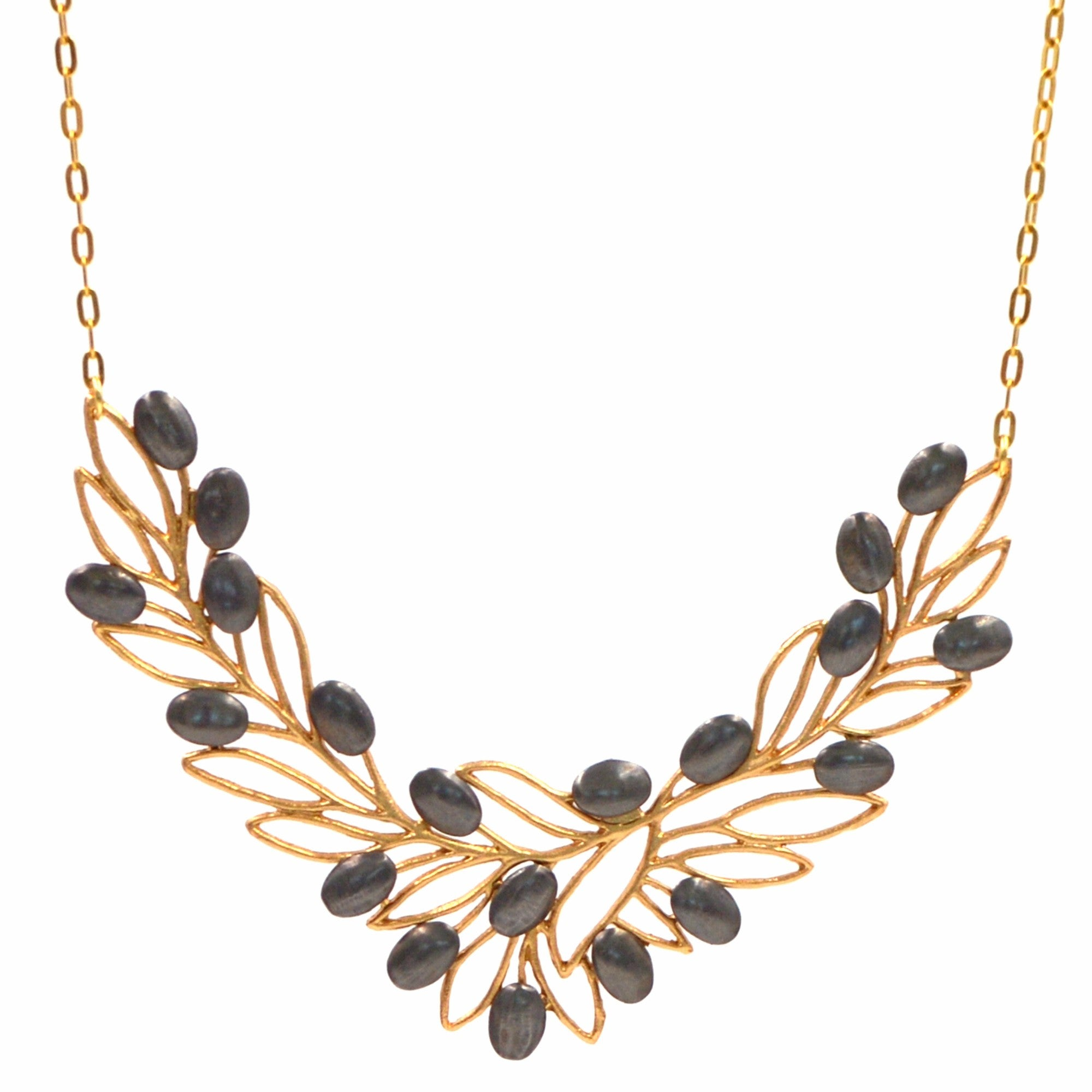 jewellery necklace gold branch olive leaf of
