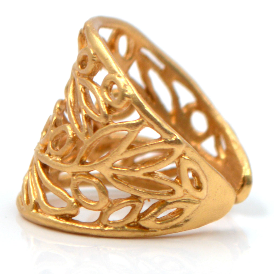 Olive Branch Ring - 24K Gold Vermeil