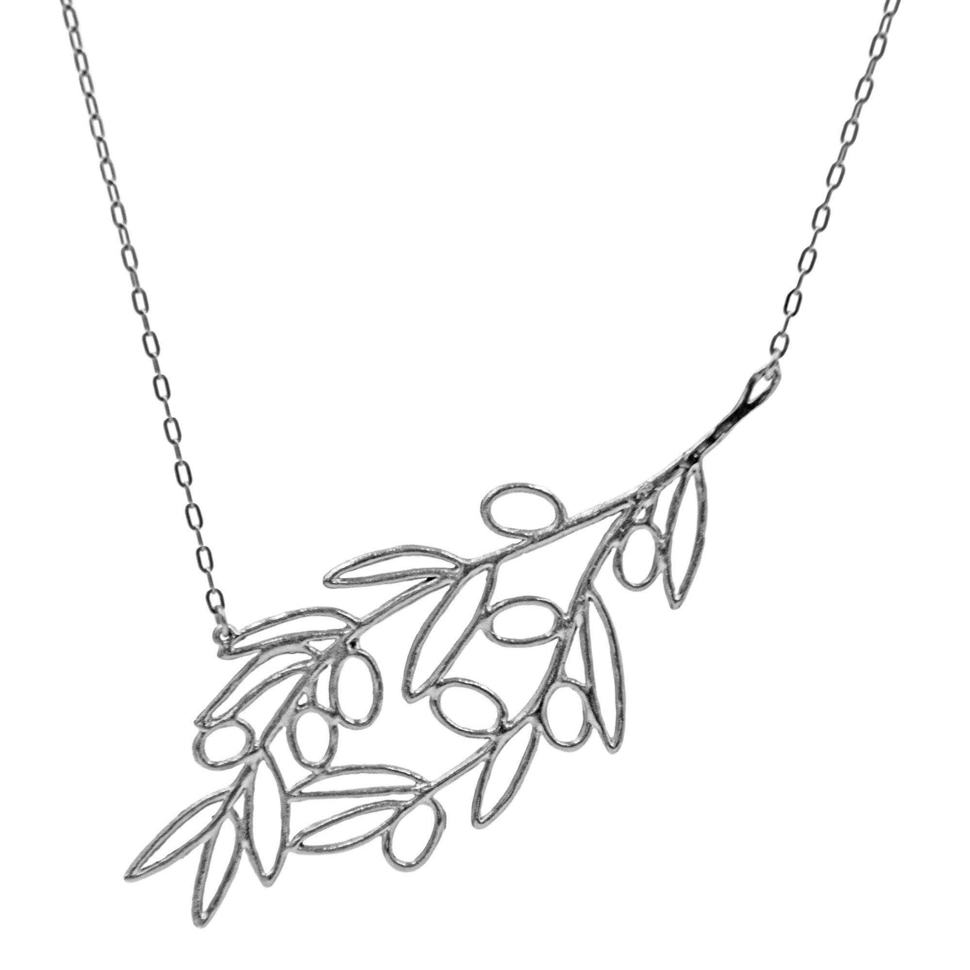 orig leaf silver zirconia olive com and double view branch dewdrop elisemoran with pendant on necklace chain cubic