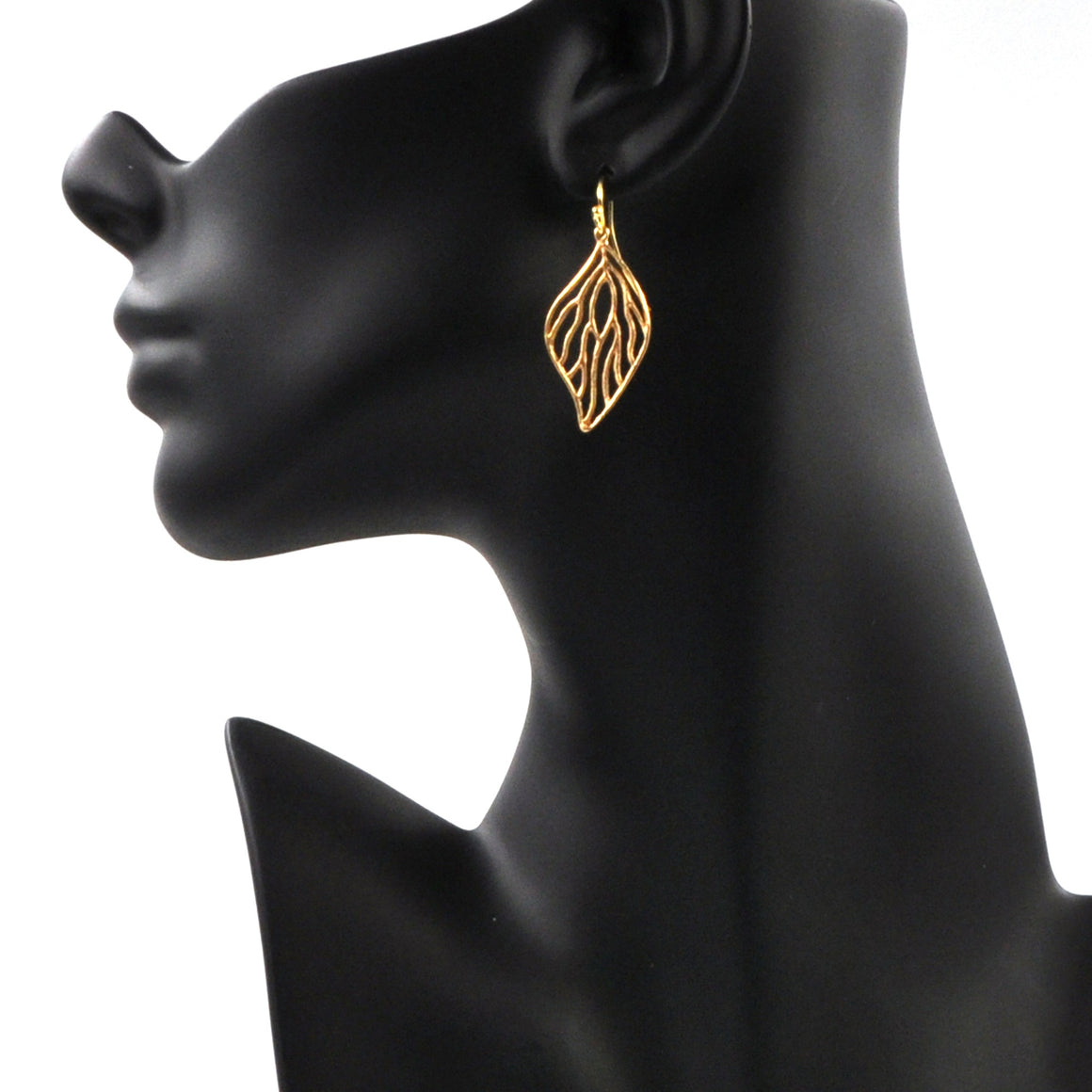 Open Leaf Earrings - 24K Gold Plated