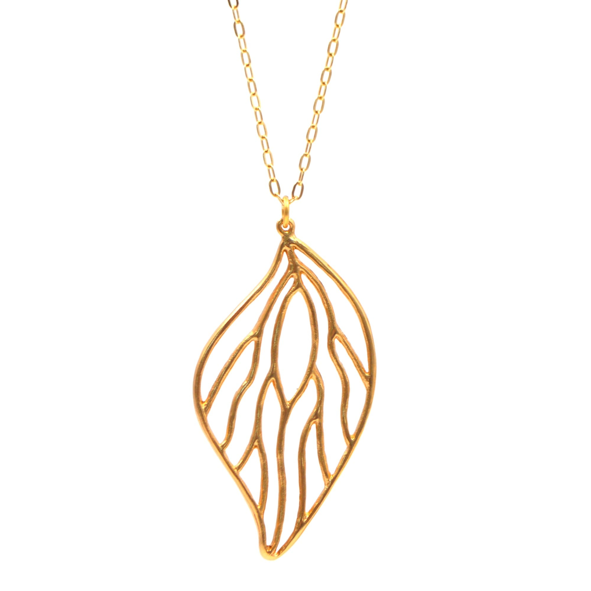 her pendant gift necklace leaf p love xxx gold