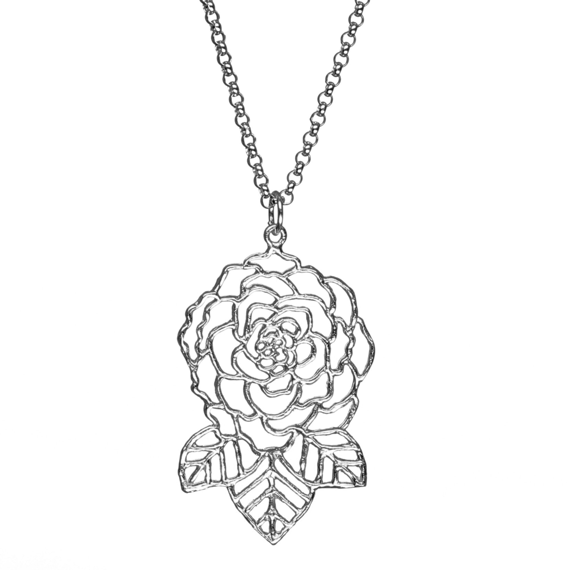 pendant deco diamond art necklace platinum