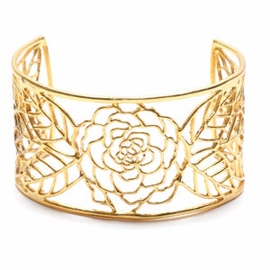 Rose Cuff - 24K Gold Plated