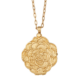 Rose Locket - 24K Gold Plated