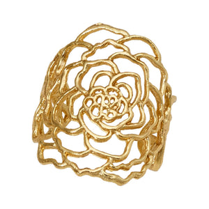 Rose Ring - 24K Gold Vermeil