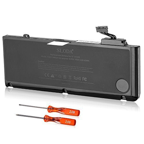 Batterie pour Apple MacBook Pro A1278 A1322 2009 2010 2011 Batterie 020–6547-a 661–5229 661–5557