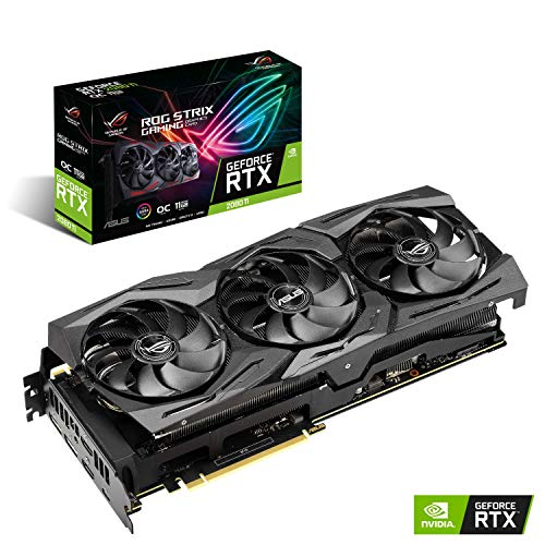 ASUS ROG Strix GeForce RTX 2080TI Overclocked 11G GDDR6 HDMI DP 1.4 USB Type-C Gaming Graphics Card