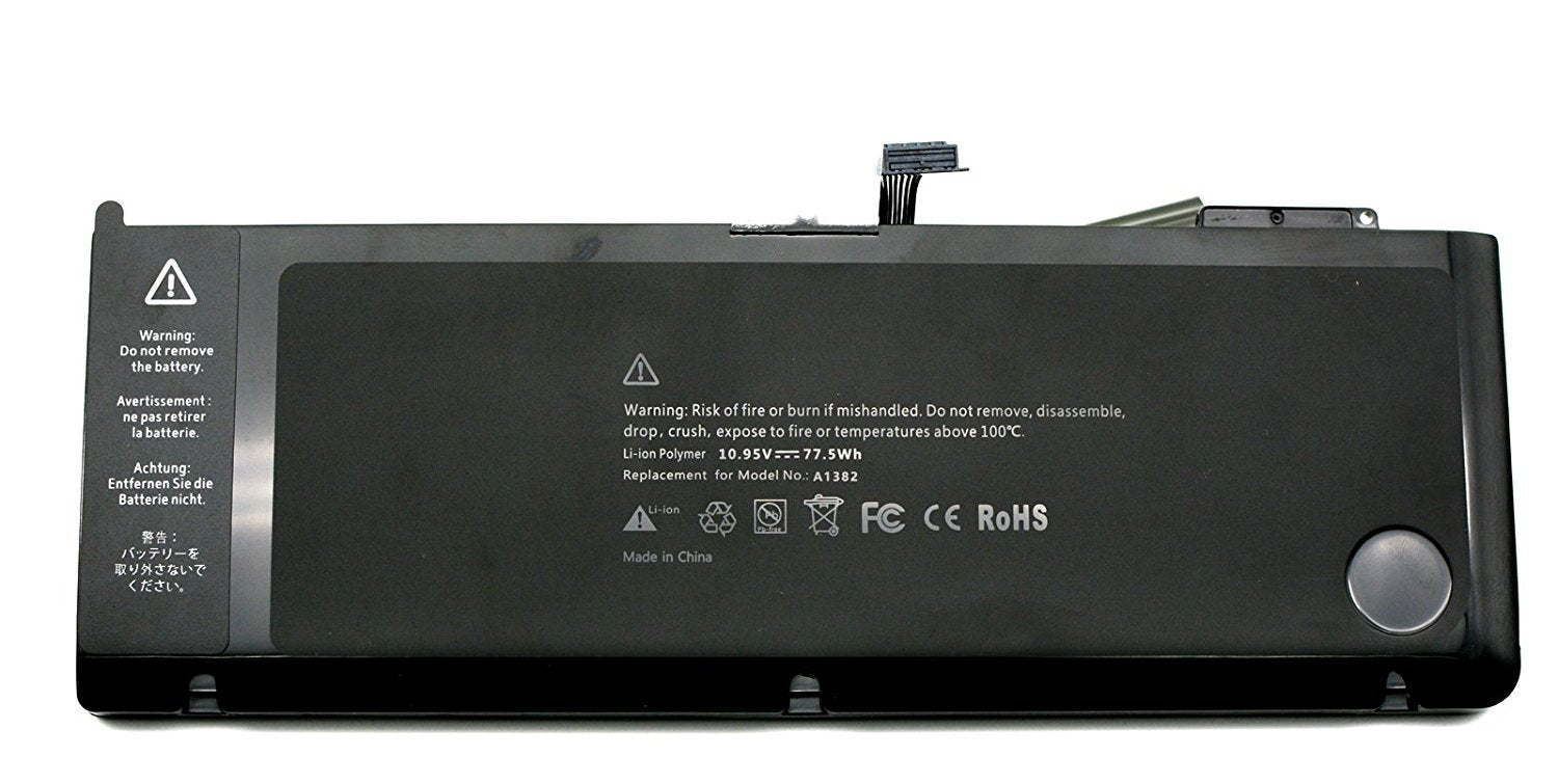 Batterie d'ordinateur portable pour Apple A1382 A1286 661–5476, 661–5211
