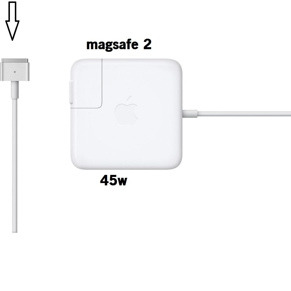 Adaptateur d'alimentation MagSafe 2 T de 45 W compatible Apple Macbook Air 11 13 2013 2014 2015 A1466