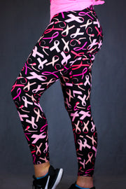 Breast Cancer Awareness Leggings by B.A.I.T. WEAR