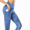 Sky Color Waffle High Waist Pocket Leggings by B.A.I.T. WEAR