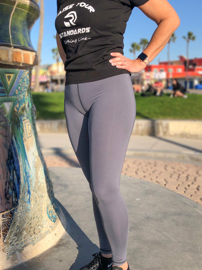 Slate Grey ABC Leggings by B.A.I.T. WEAR