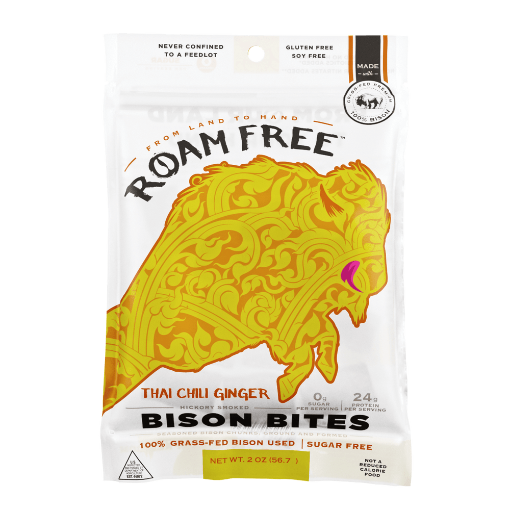 Bison Bites Thai Chili Ginger - Go Roam Free