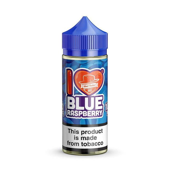 I LOVE BLUE RASPBERRY BY MAD HATTER JUICE 100ML
